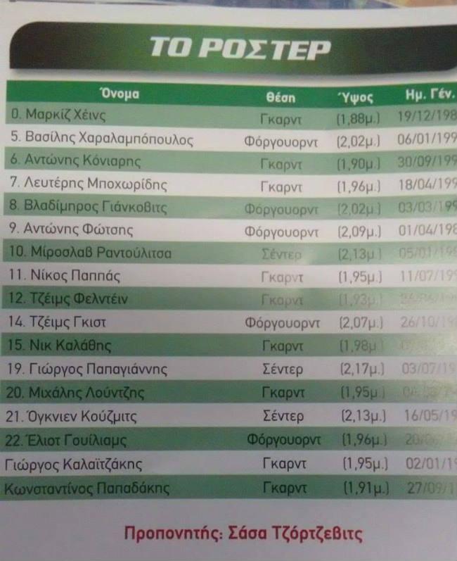 panathinaikos-faros-match programme-telikos-diamantidis