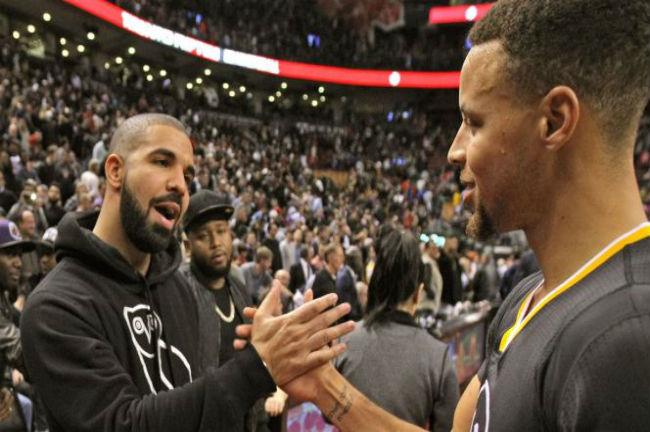 Drake-Steph-Curry