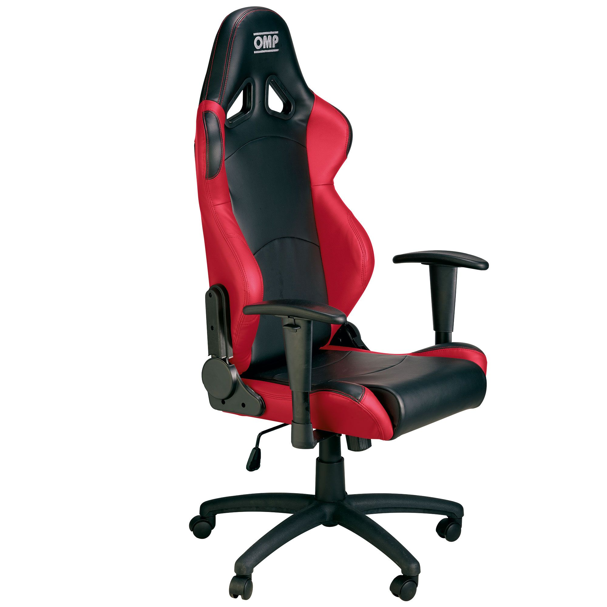Racing Seat Office Chair Details About Omp Racing Seat Swivel Wheeled Office Chair Faux Leather Black Red