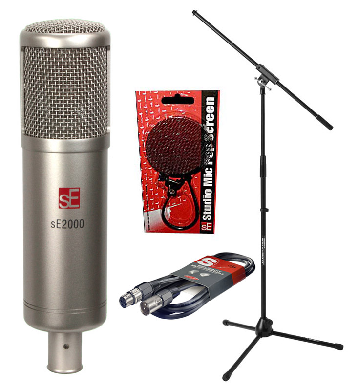 sE Electronics sE2000 mk2 Microphone. Pop Shield. Stand and Cable Bundle   eBay