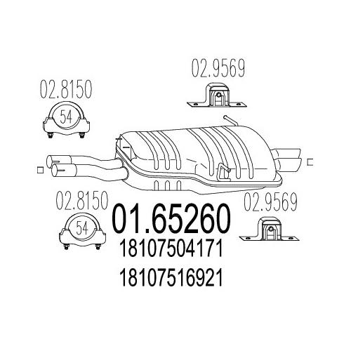 MTS Endtopf NEU BMW E46 320 325 330 Auspuff + Anbauteile