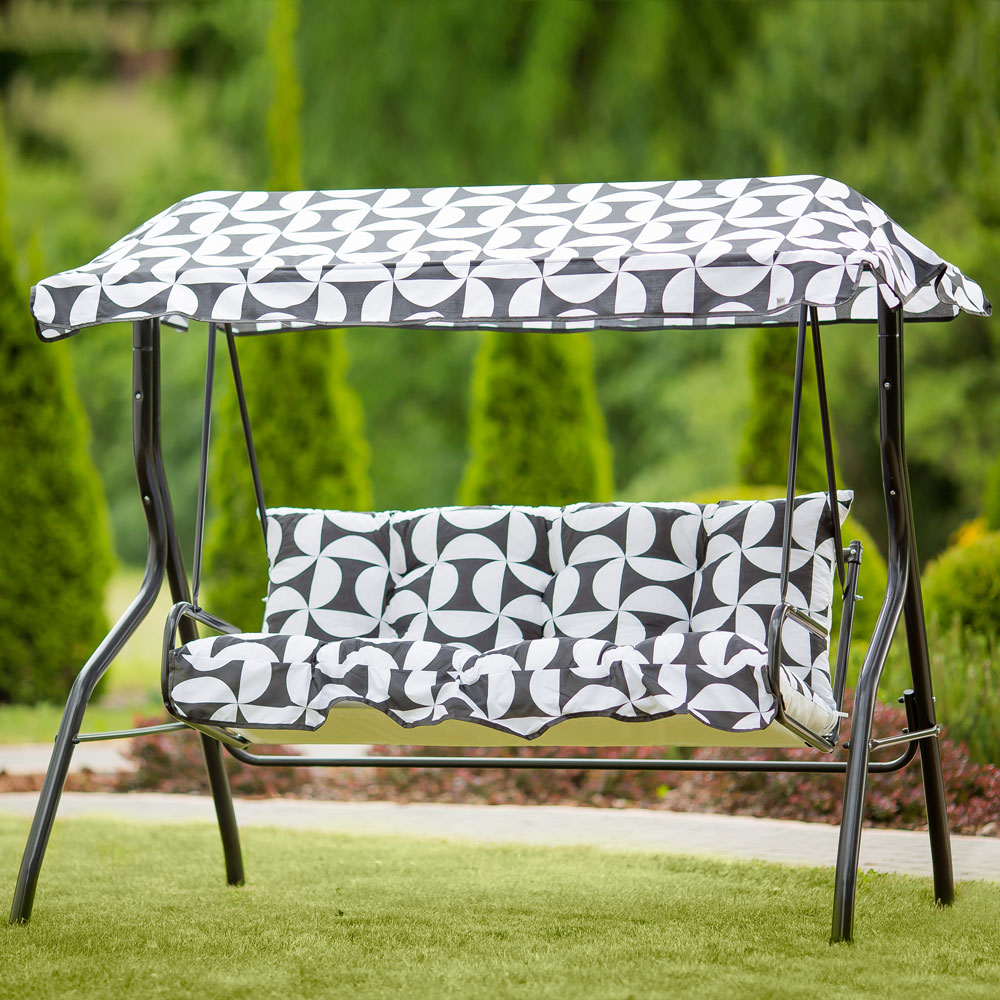 replacement swing cushions set with canopy 130 cm luna kate h020 07pb patio 5904134093875 ebay
