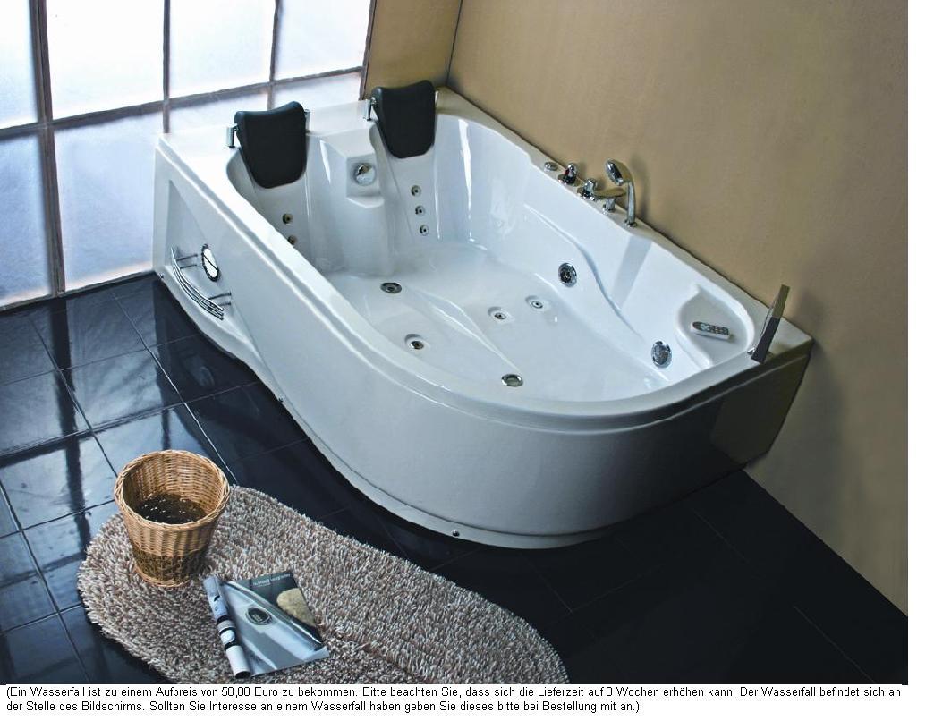 Whirlpool Badewanne 180x120 LuftWasser Heizung 31R  eBay