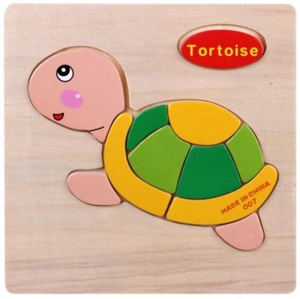 Cartoon Wooden Blocks Puzzle Animal Fruit Transport Kids