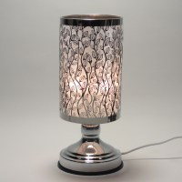 New Electric Metal Silver Aroma Fragrance Oil Lamp Warmer