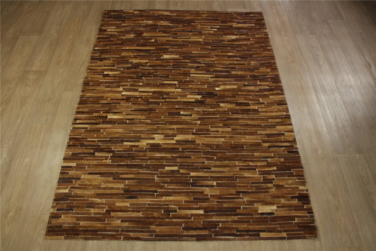 Kuhfell Teppich Hell Teppich Patchwork Echt Leder 160x230 Cm Vintage Cowhide