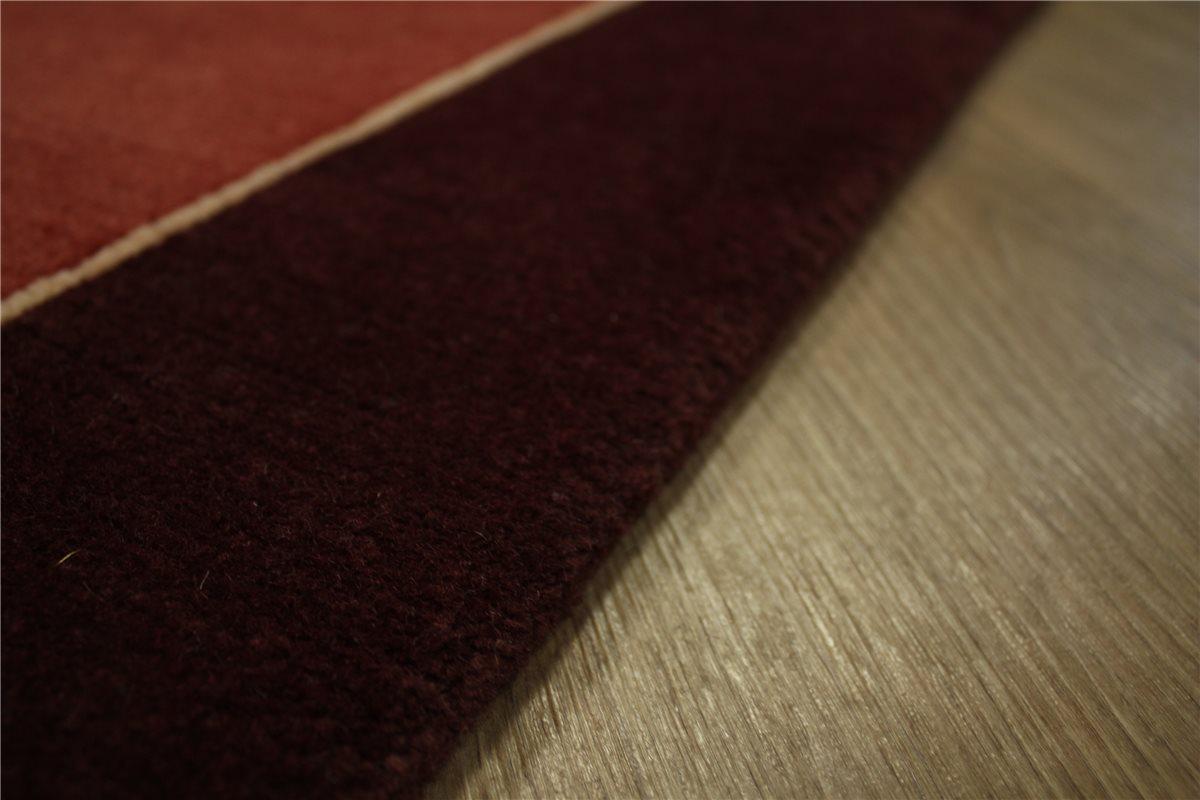 Teppich Wohnzimmer Bordeaux Druck Teppich Inci 11196 Bordeaux Rot