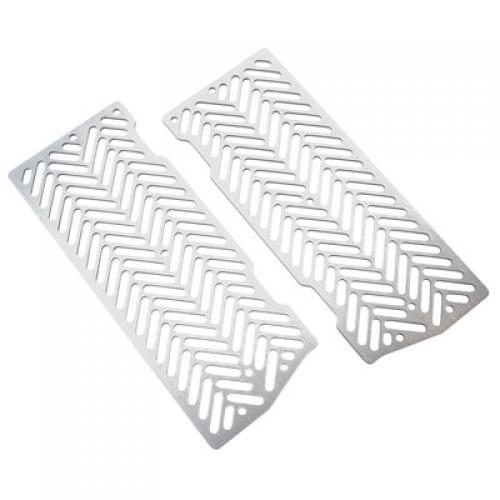7602 Racing Radiator Guards Brushed Aluminum KTM 125 SX