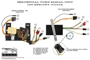 Sequential Turn Signal Box  Solid State  Repro ~ 1968