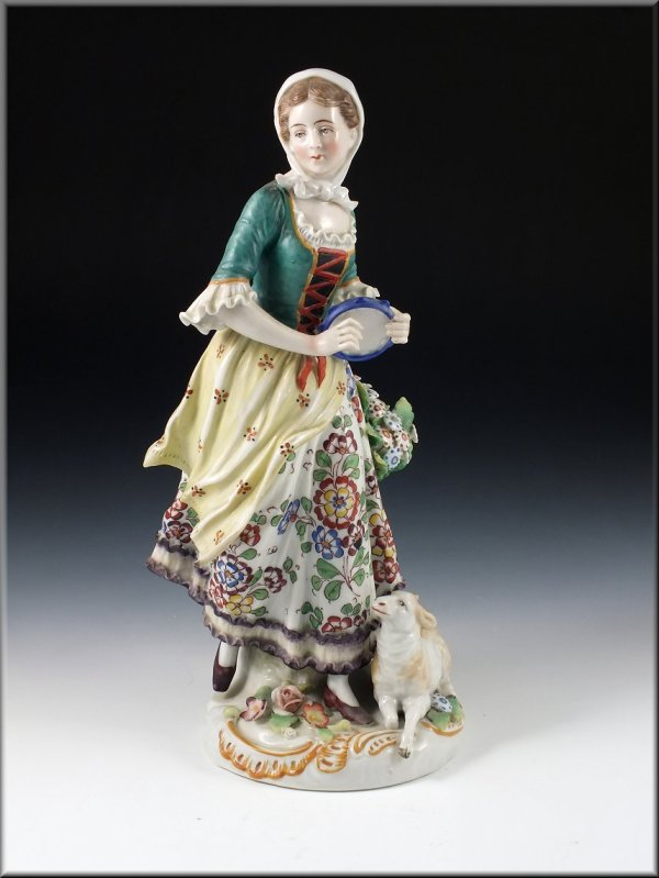 19th Century Sitzendorf Germany Porcelain Figurine Of