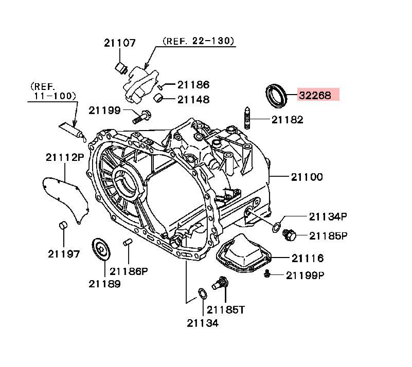 Mitsubishi MD758763 Manual Trans Output Shaft Seal