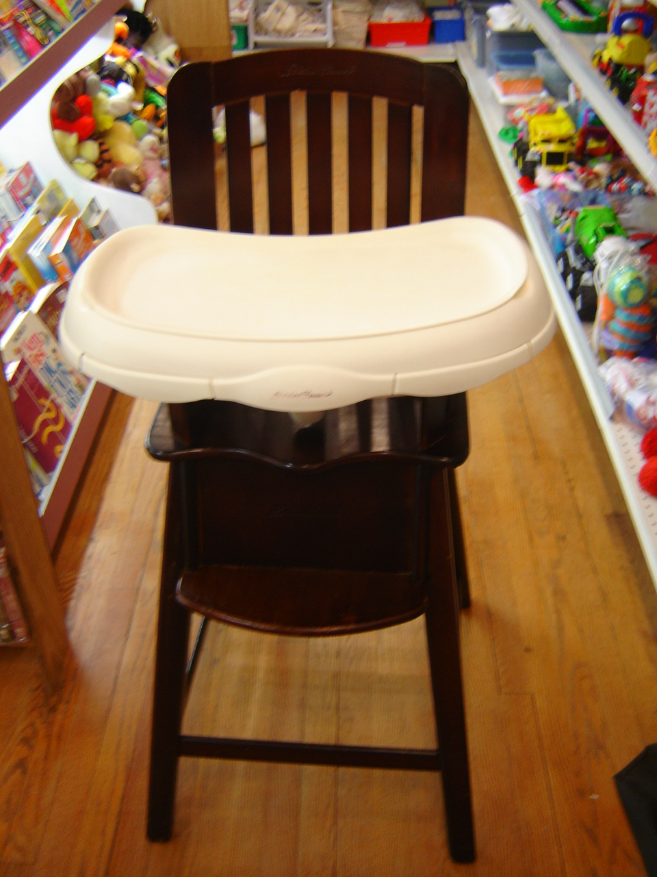 Eddie Bauer Wooden High Chair with Tray  eBay