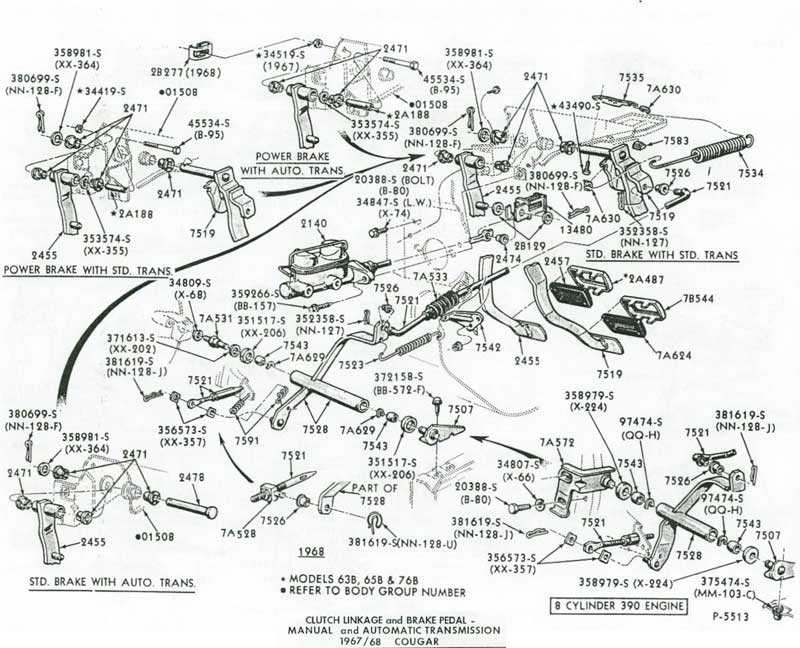 68 Mustang Transmission Diagram, 68, Free Engine Image For