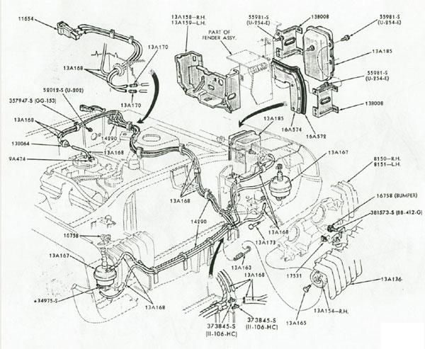 1969 Mercury Cougar Vacuum Diagram, 1969, Free Engine