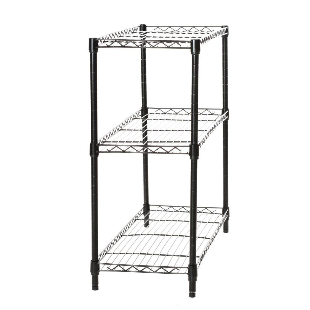 3-Shelf Storage Rack Garage Kitchen Home Office Steel Wire