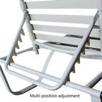 Steel Frame Aluminum Stackable Patio Chaise Lounge Chair ...