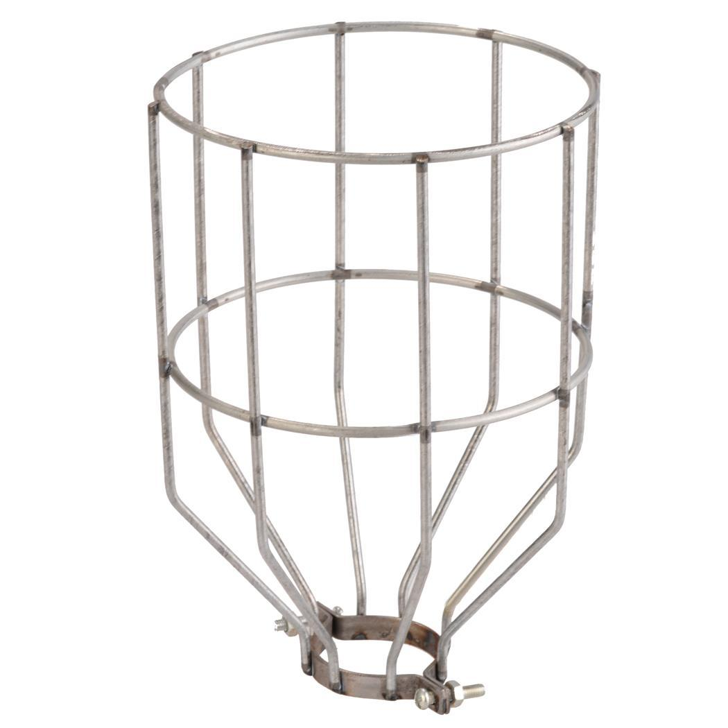 Retro Wire Bulb Cage Clamp On Metal Lamp Guard Trouble