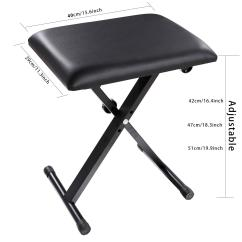 Folding Chair Rubber Feet Beach Canopy Foldable Piano Keyboard Music X Style Bench Adjustable