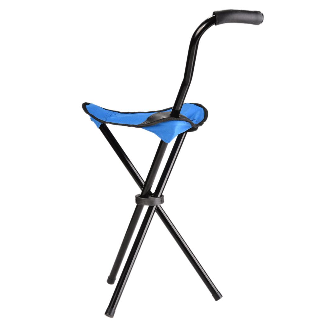 Walking Chair Heavy Duty Portable Walking Stick Cane Chair Travel Camp