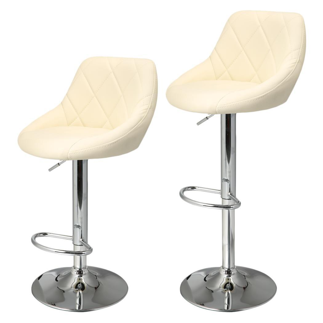 revolving chair bar stool hanging perth set of 2 pu leather adjustable counter