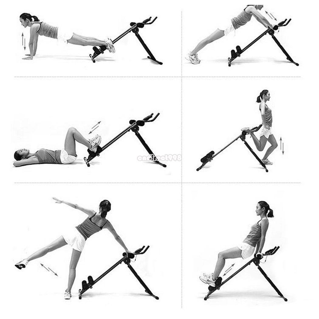 AB Cruncher Abdominal Trainer Home Gym Abs Glider Rail
