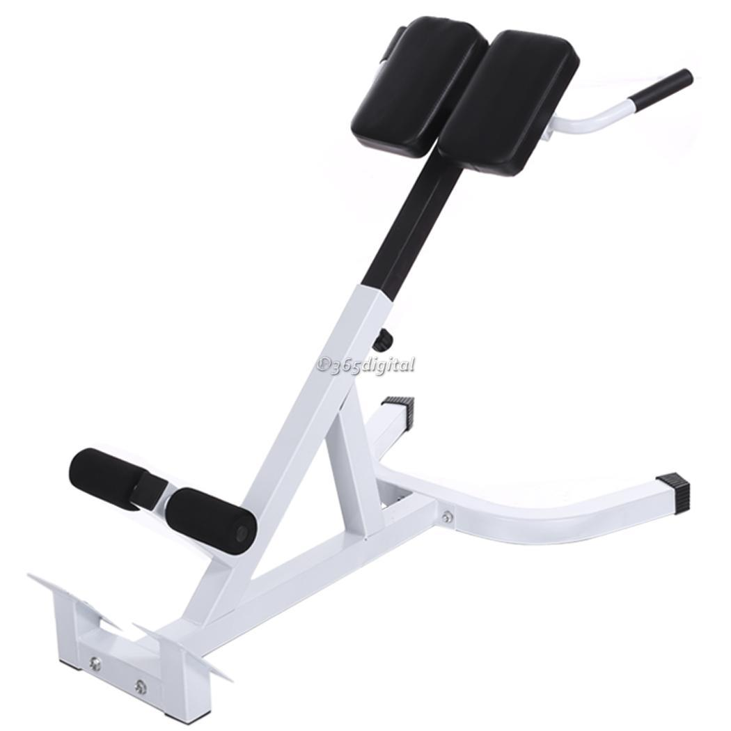 chair gym accessories white wooden rocking australia bench roman back extension trainer fitness