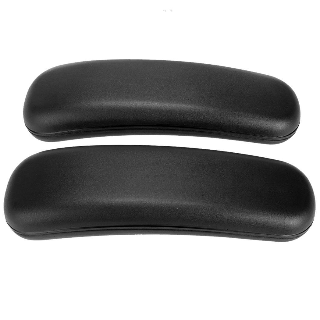 desk chair arm pads blue leather office best replacement armrest set of 2