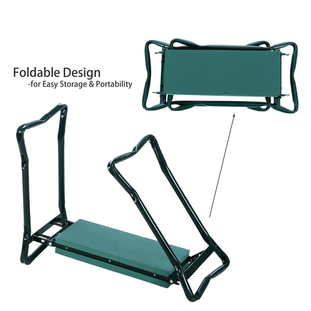 chair with kneeler breakfast bar table and chairs hot foldable gardening kneeling knee pads