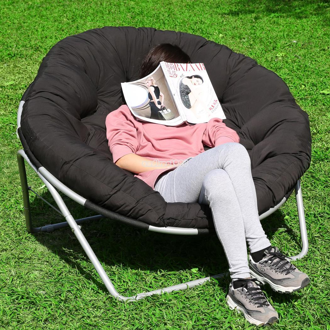 Outdoor Papasan Chair Folding Camping Chair Outdoor Moon Fishing Garden Leisure