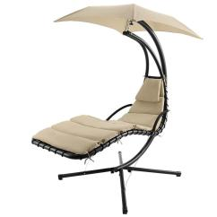 Hammock Chair With Canopy Gel Cushion As Seen On Tv Popular Hanging Chaise Lounger Arc Stand Air Porch