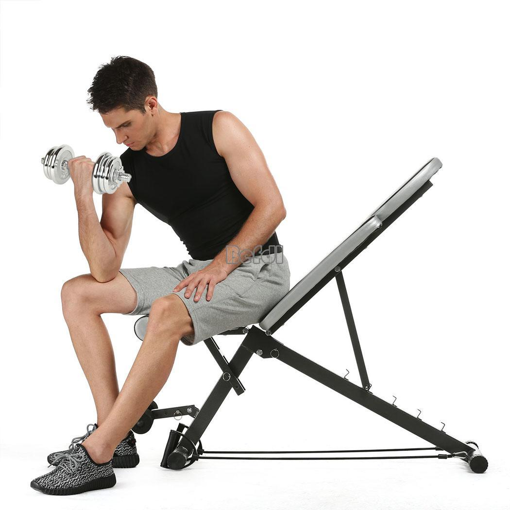Folding Ab Sit Up Bench Board Abdominal Workout Fitness