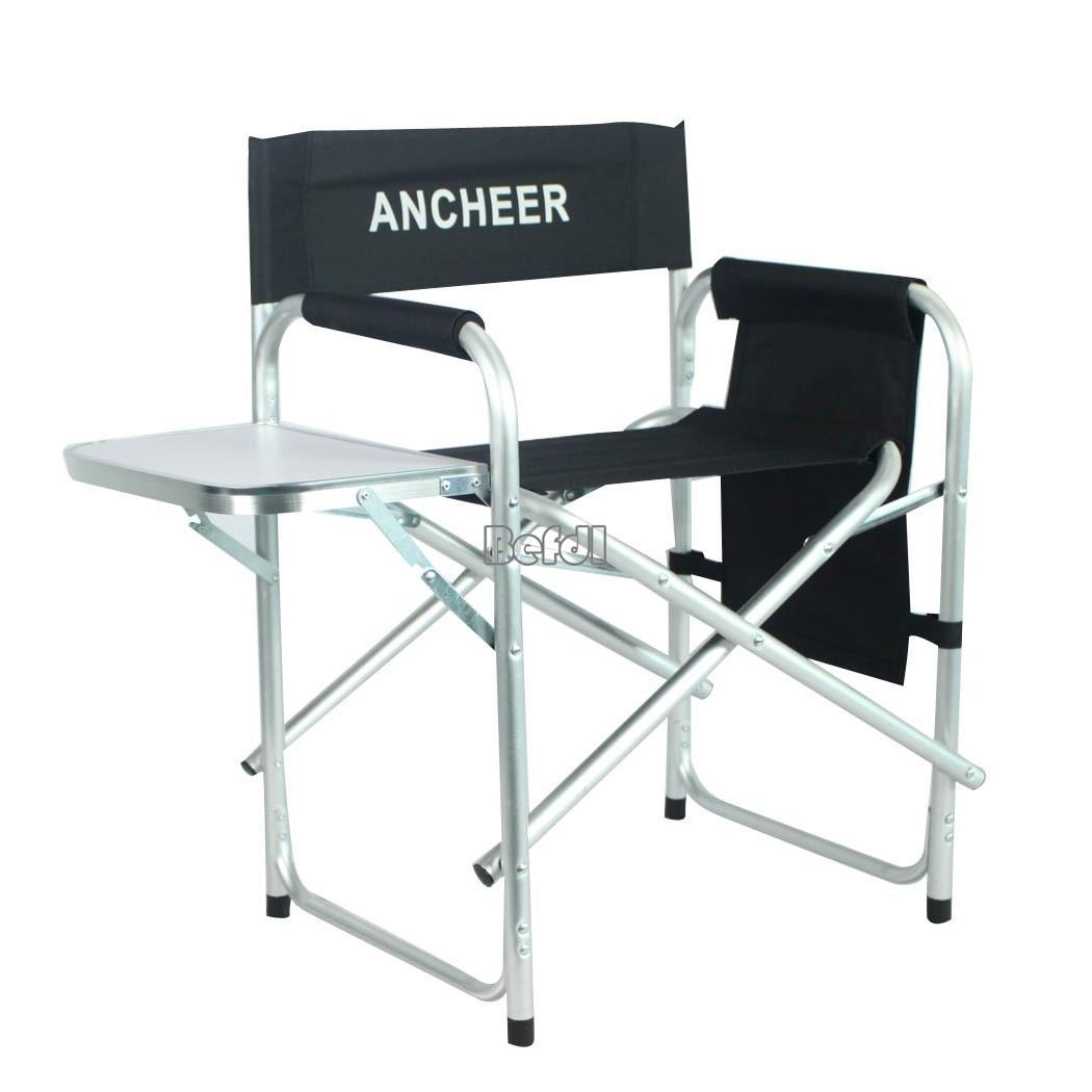 directors chair with side table chiavari chairs wedding aluminum frame portable folding artist w