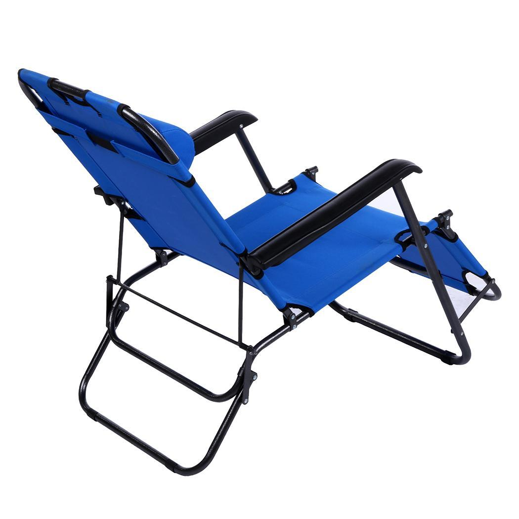 lay down chair outside back pillow for bed 69in folding recliner lounge outdoor pool beach lying