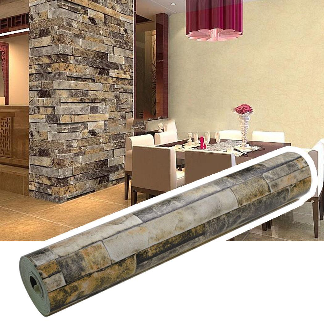 3D Realistic Rustic Rusty Sand Stacked Brick Stone Rock