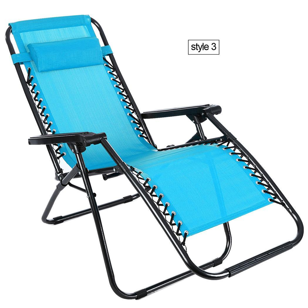 Folding Lounge Chairs Heavy Duty Zero Gravity Folding Lawn Patio Lounge Chair