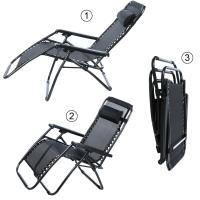 HEAVY DUTY ZERO GRAVITY FOLDING LAWN PATIO LOUNGE CHAIR ...