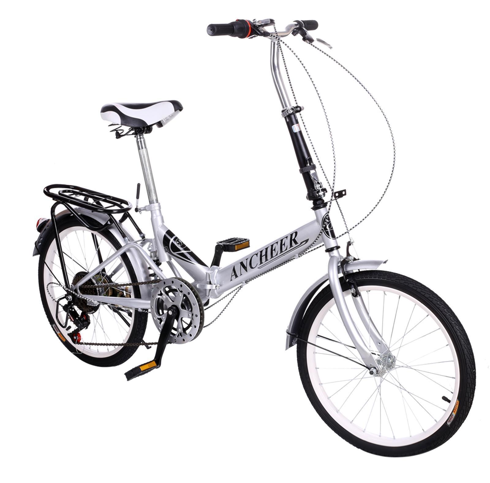 Ancheer Folding Bike 20 6 Speed Bicycle Fold Storage City