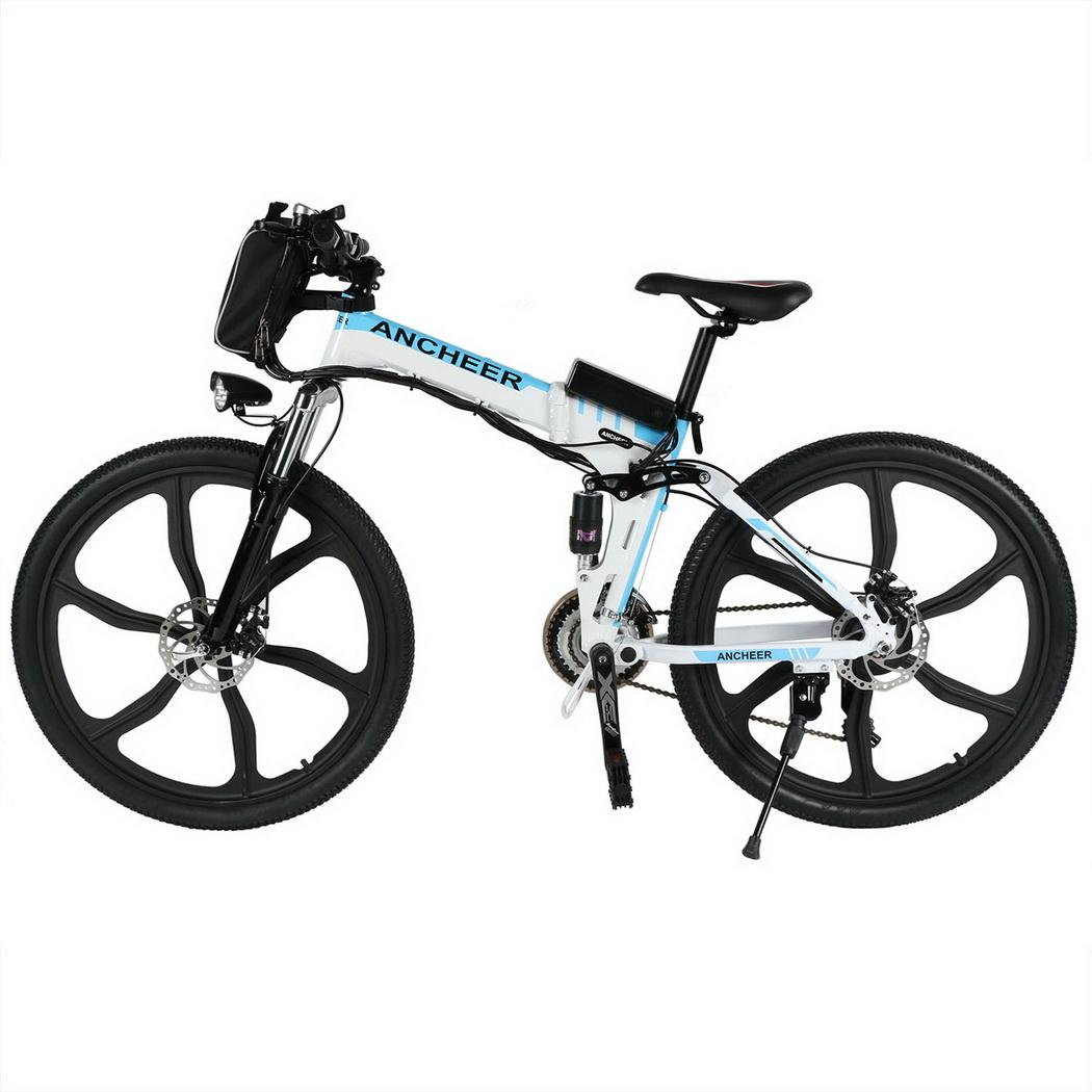 26 Inch 27 Speed Foldable Electric Power Mountain Bicycle
