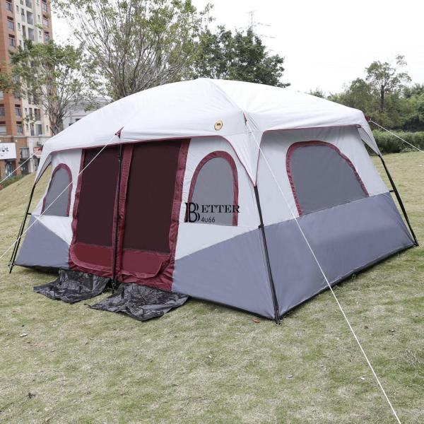 8-10 Person 2 Room Cabin Tent Family Large Camping Hiking Outdoor Easy Set