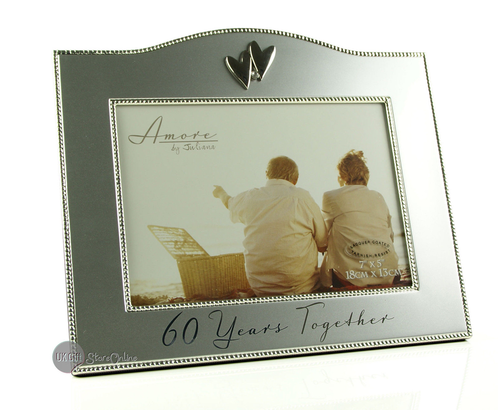 60 Years Together Silver Wedding Anniversary Gift 7 X 5