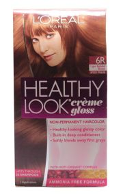loreal 6r light reddish brown healthy
