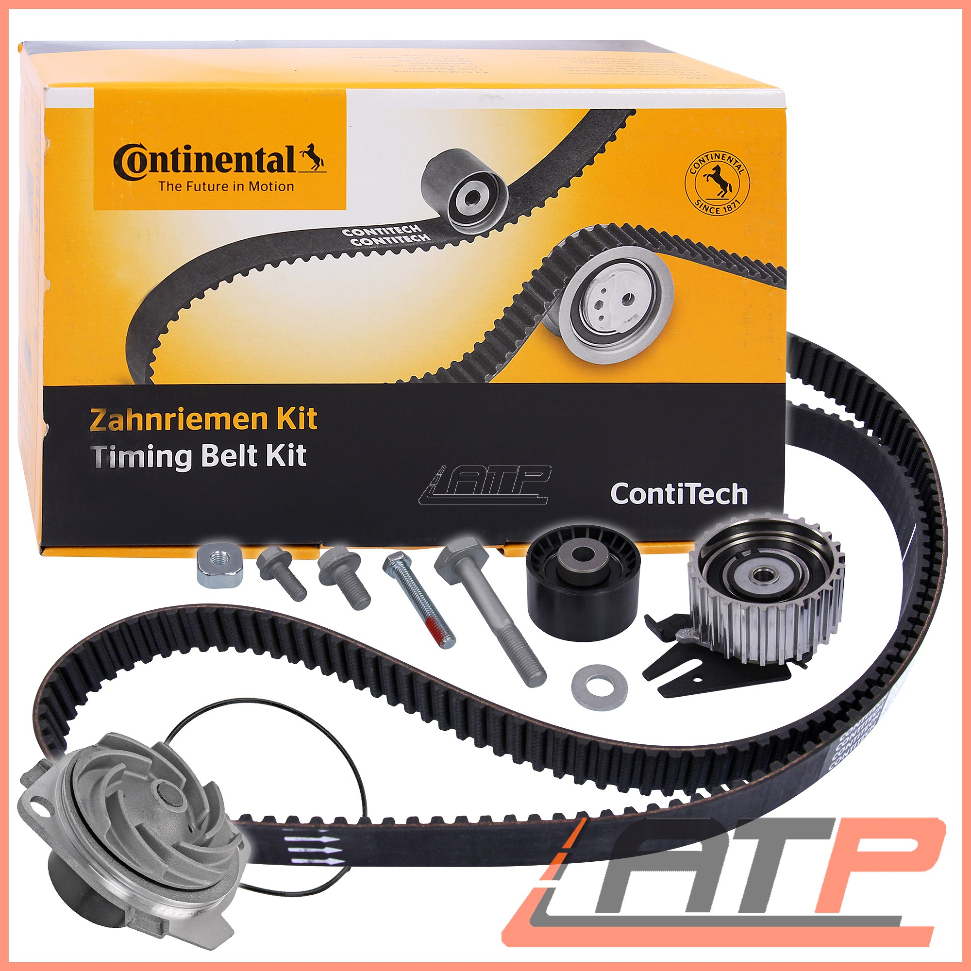 hight resolution of image is loading 1x contitech timing belt kit water pump opel