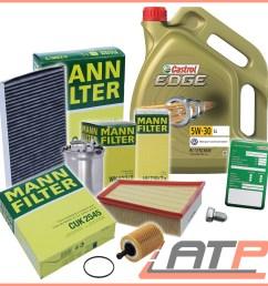 mann filter service kit 5l castrol 5w 30 ll seat ibiza mk 5 mann filter service kit 5l castrol 5w 30 ll seat ibiza mk 5 6j 1 4 1 9 08 10 1 sur 6  [ 2000 x 2000 Pixel ]