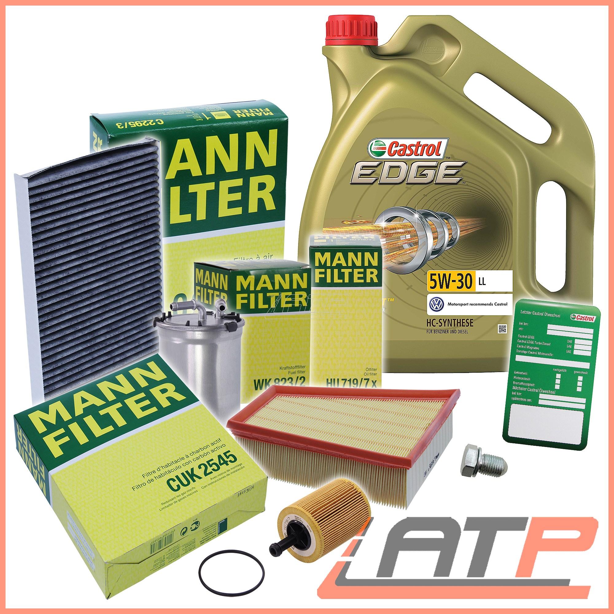 hight resolution of mann filter service kit 5l castrol 5w 30 ll seat ibiza mk 5 mann filter service kit 5l castrol 5w 30 ll seat ibiza mk 5 6j 1 4 1 9 08 10 1 sur 6