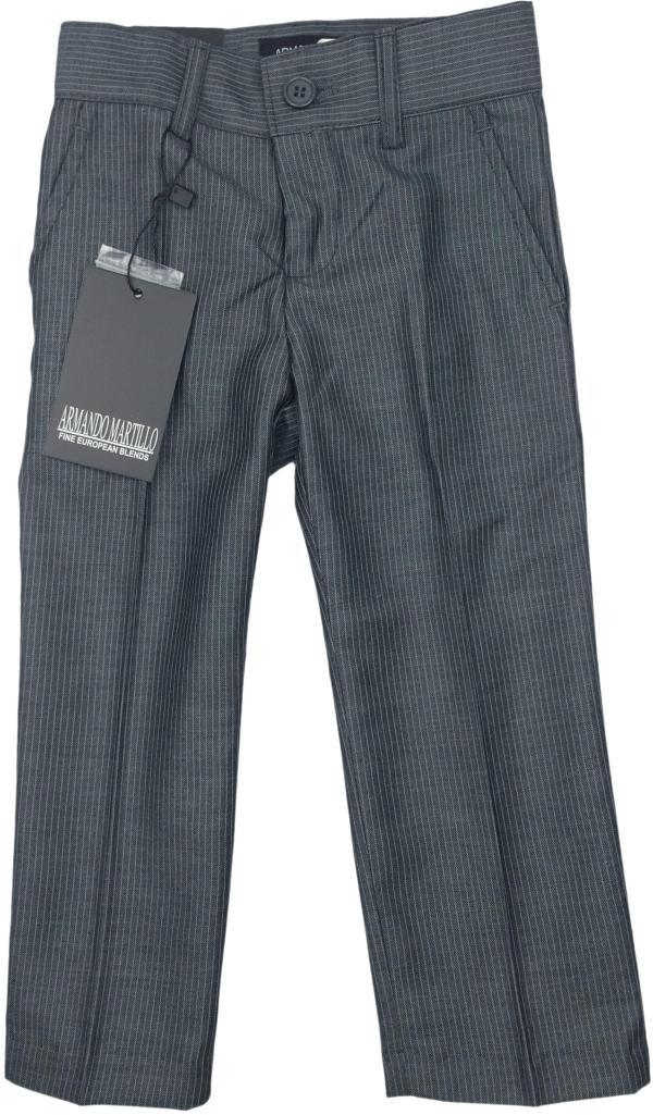 Armando Martillo Boys Dark Gray Pinstripe Slim Fit Dress Pants - 203p-pv4d