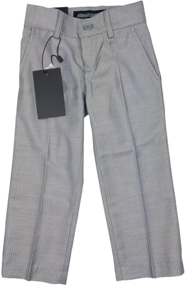 Armando Martillo Boys Light Gray Pinstripe Slim Fit Dress Pants - 203p-pv4l