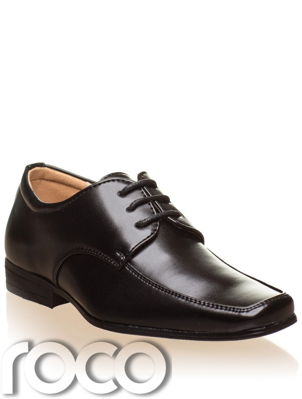 Boys Black Shoes Brown Prom Page Formal