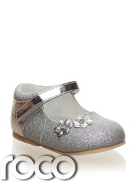 Baby Girls Silver Shoes, Flower Girl Shoes, Bridesmaid ...