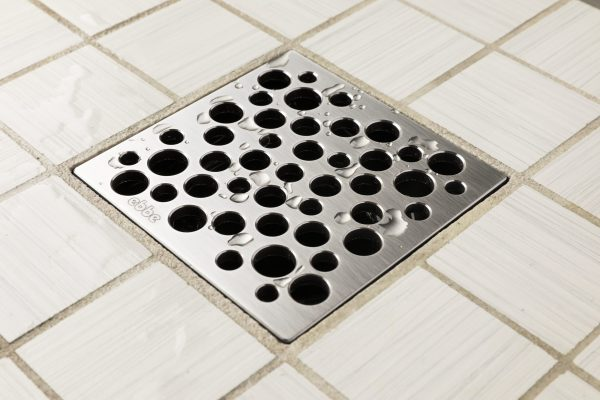 E4812-SS - Ebbe UNIQUE Drain Cover - BUBBLES - Satin Stainless Steel - Shower Drain - aw