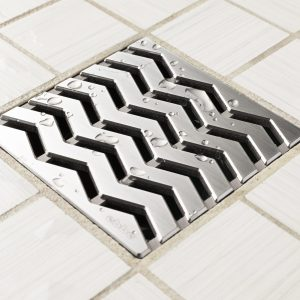 E4816-BS - Ebbe UNIQUE Drain Cover - TREND - Brushed Stainless Steel - Shower Drain - aw